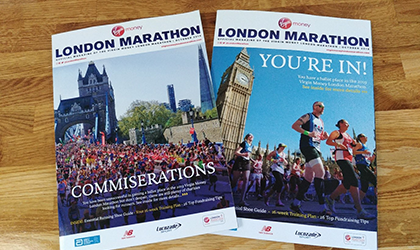 London Marathon magazines