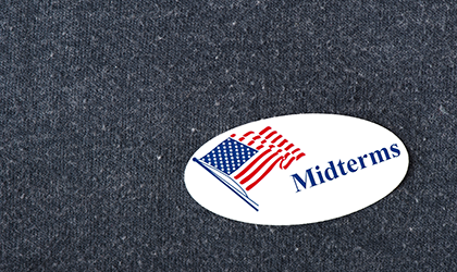 Midterm sticker on jumper