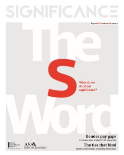 Significance magazine