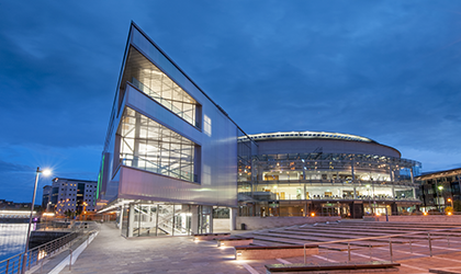 Exterior shot of ICC Belfast